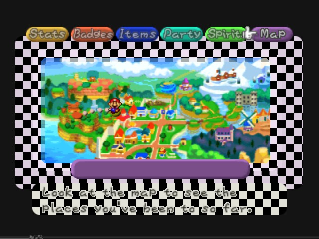 Paper Mario - World Map  - Aaah... Good old Toad Town. - User Screenshot